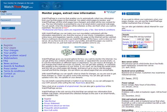 Monitoriza páginas web y extrae la información de la competencia