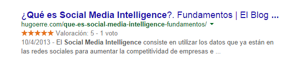 Ejemplo de Búsqieda en Google gracias a la herramienta Google Webmasters Tools- Que es socialmedia intelligence