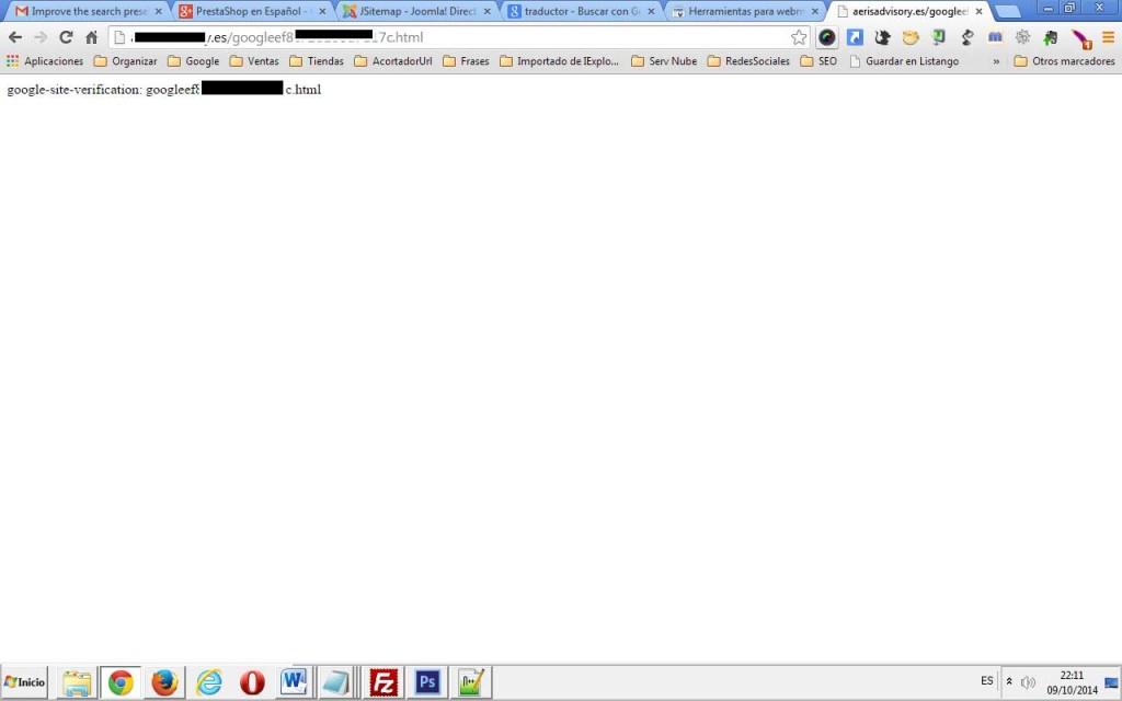 Como dar de alta mi sitio web en Google Webmaster Tools. Comprobación del html