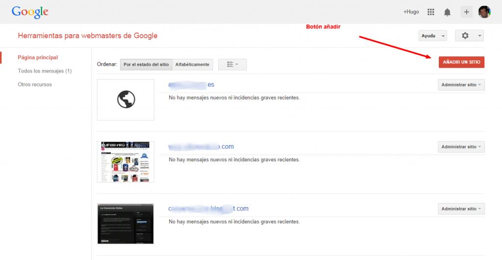 Como darse de alta en la Herramientas para webmasters de Google para administrar un sitio web