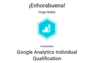 Certificación Oficial Google Analytics Individual Qualification
